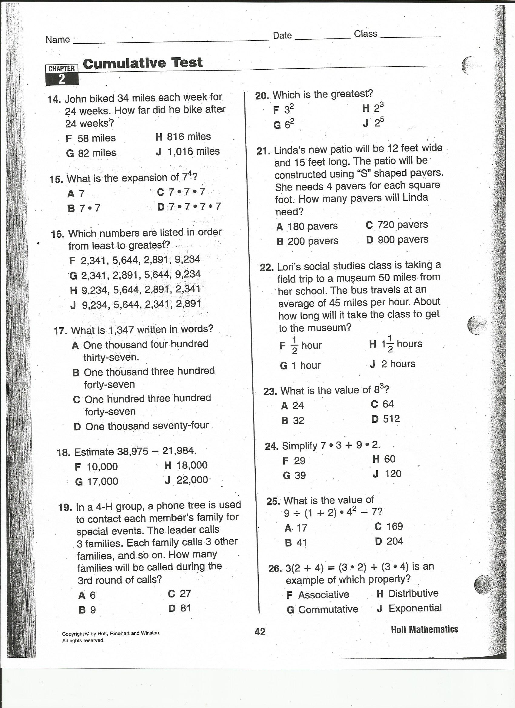 6Th Grade Math Review Worksheets – Math Review Worksheets 6th Grade