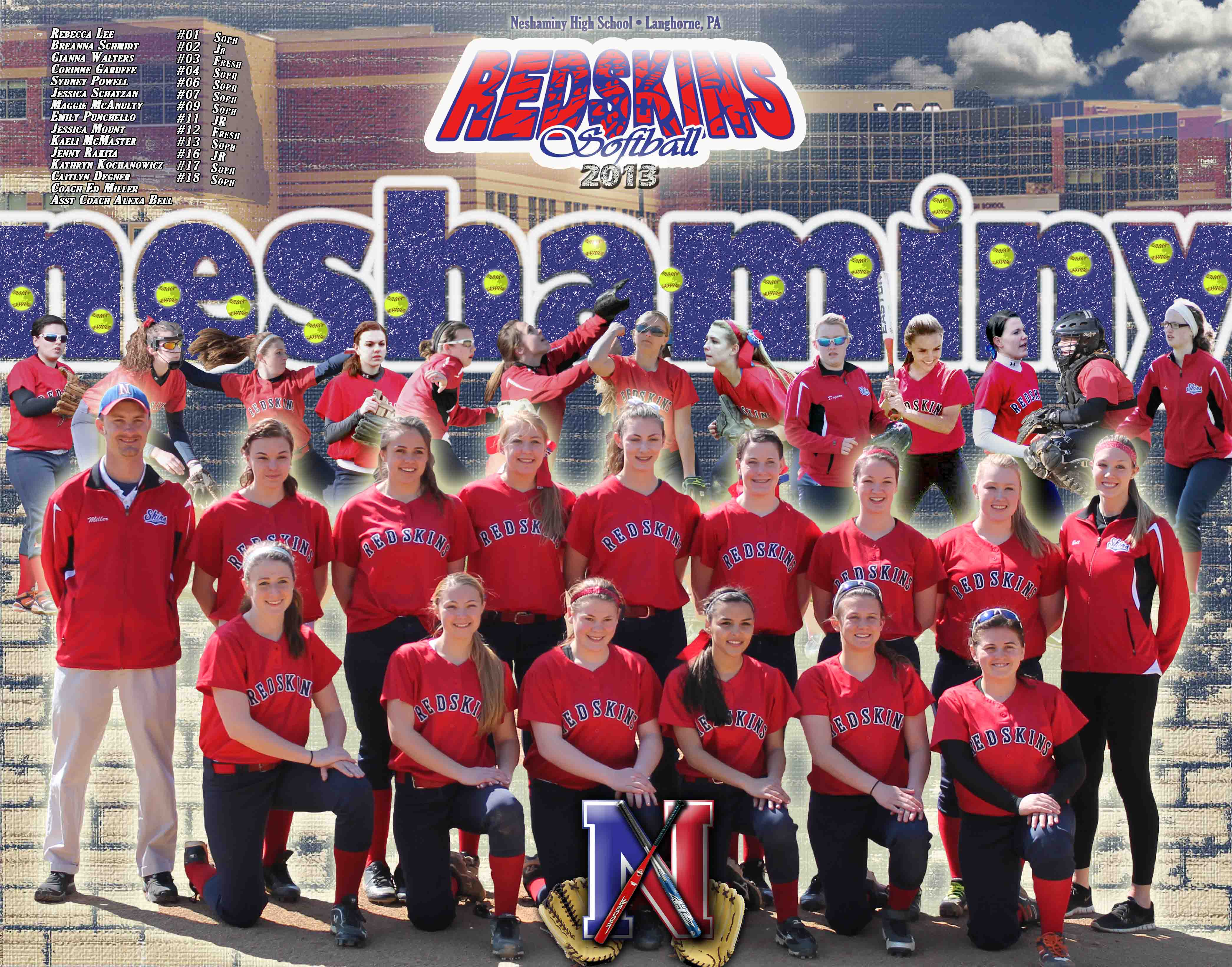 NHS JR Varsity Softball Poster 2013