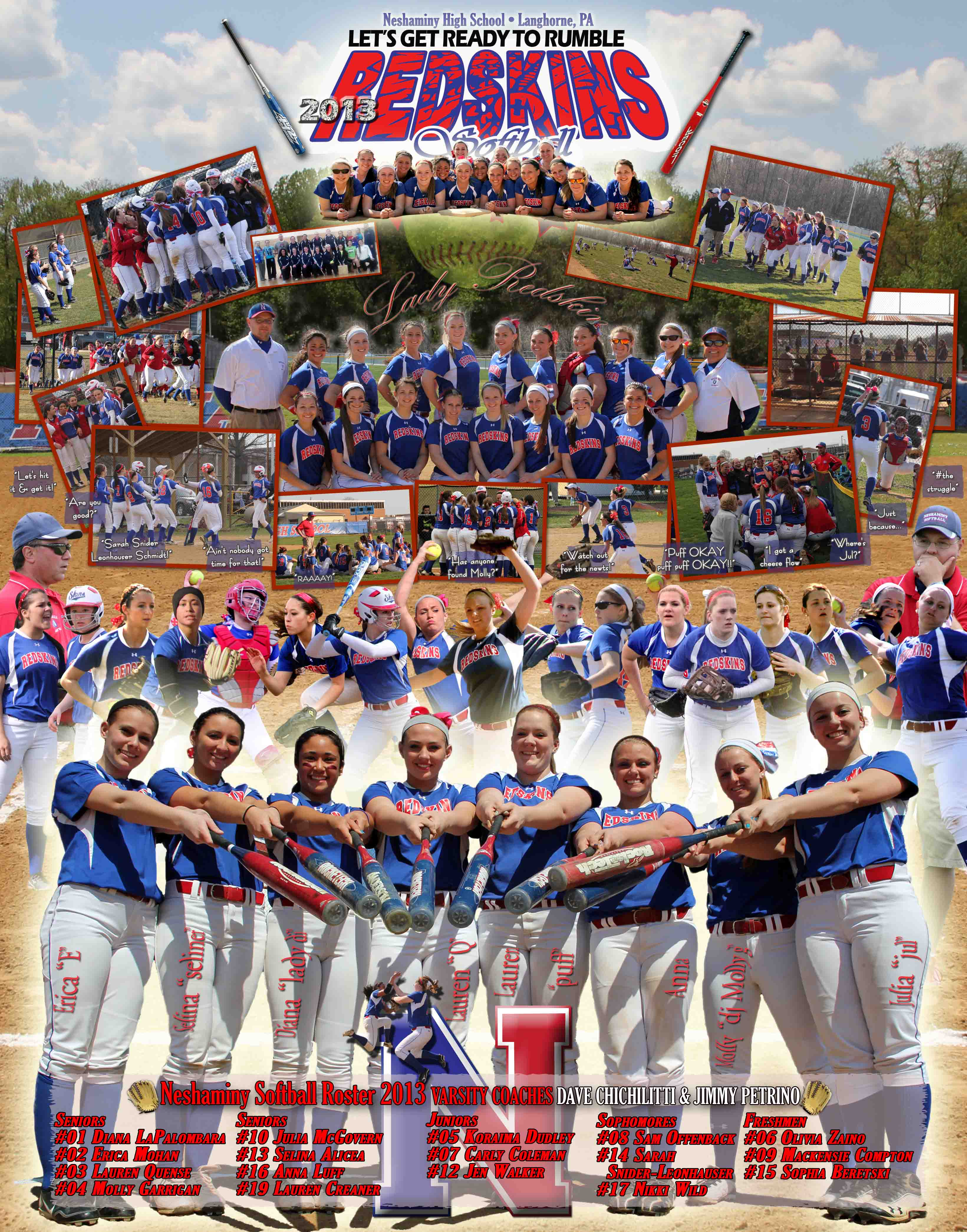 NHS Varsity Softball Poster 2013